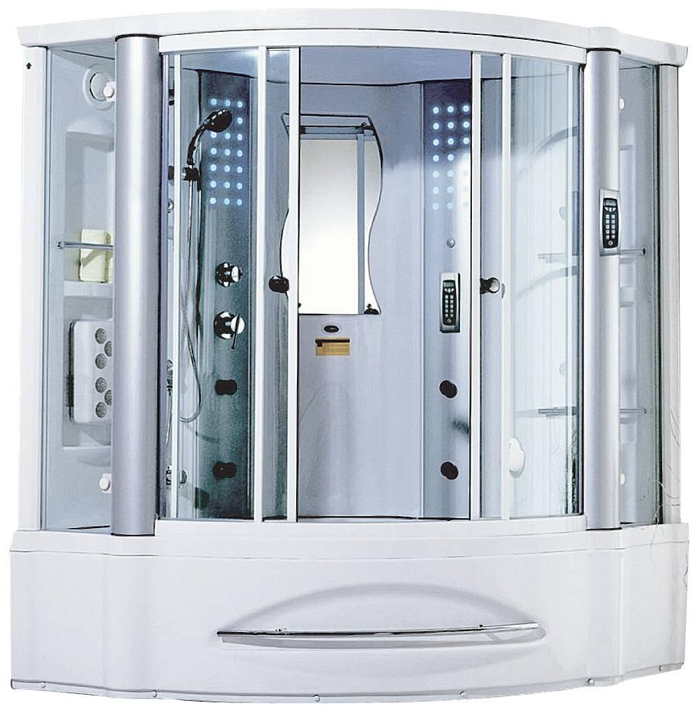 Cabina de tina hidromasaje y vapor con calentador y for Cabinas de ducha medidas