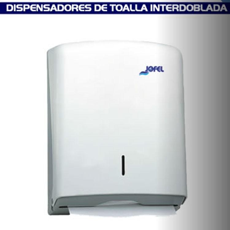 2 dispensadores de toalla interdoblada color blanco dt33001 for Dispensadores para banos