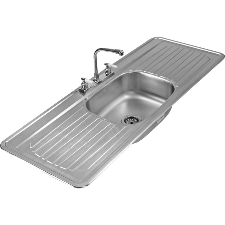 Casas cocinas mueble fregadero de acero inoxidable - Precios de fregaderos ...