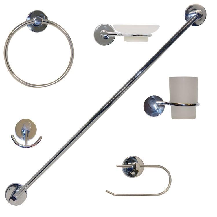 Accesorios De Baño Marcas:Juego de accesorios para empotrar en acabado cromo – JE-20C