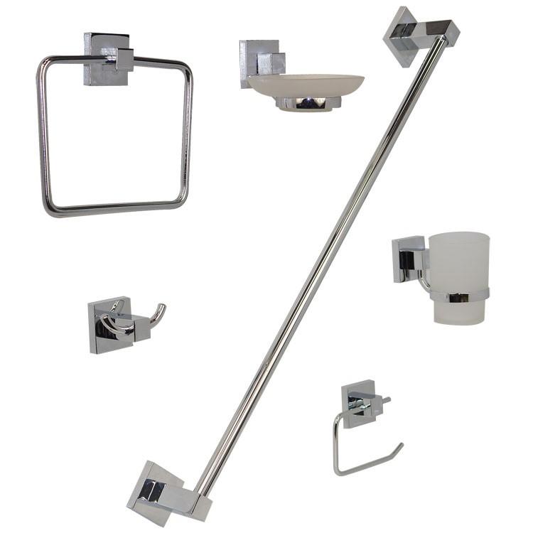 Accesorios De Baño Marcas:Juego de accesorios para empotrar en acabado cromo – JE95-C