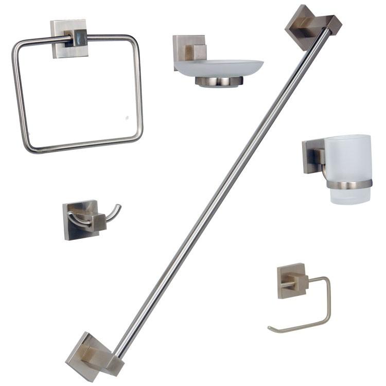 Accesorios De Baño Urrea:de accesorios para empotrar en acabado satinado – JE95-S – Kit para