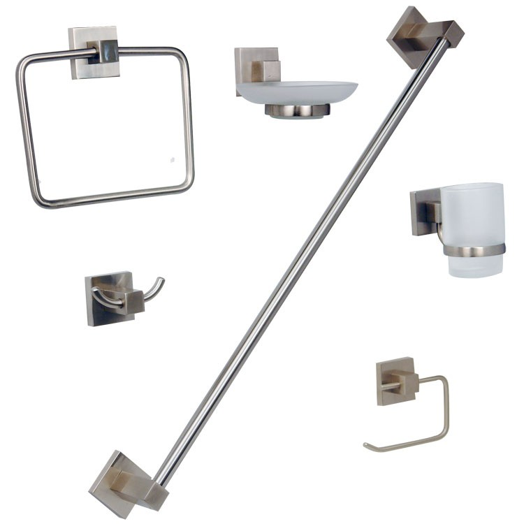 Lavabos Para Baño Para Empotrar:de accesorios para empotrar en acabado satinado – JE95-S – Kit para