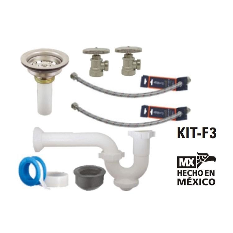 Kit Para Reparar Tinas De Baño:Kit de instalación para mezcladora de fregadero – KIT-F3