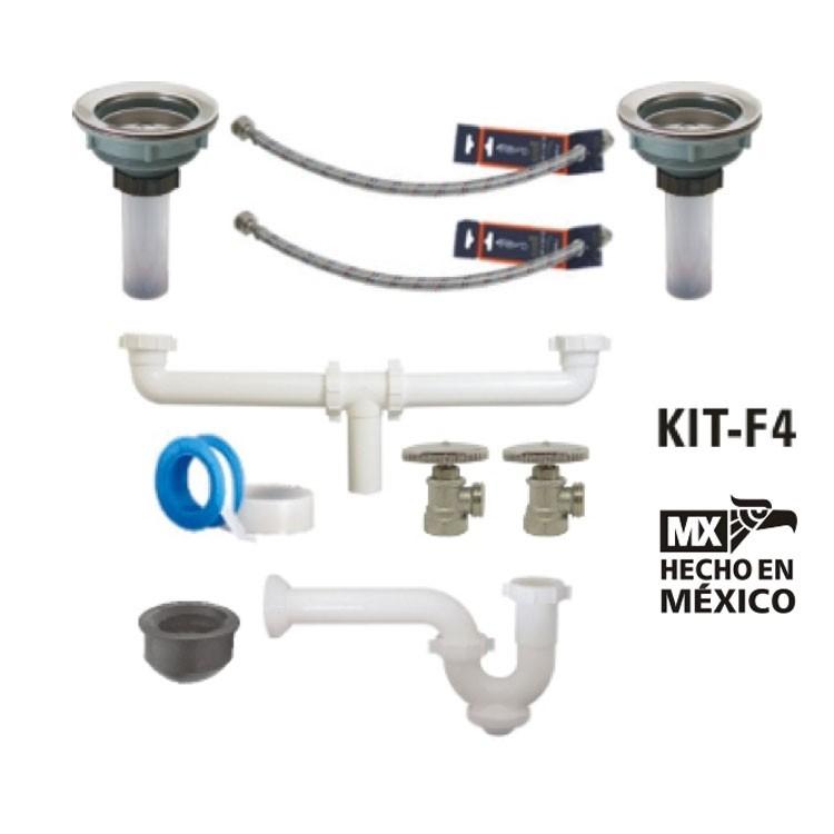 Accesorios De Baño Helvex:Kit de instalación para mezcladora de fregadero – KIT-F4 – Kit para