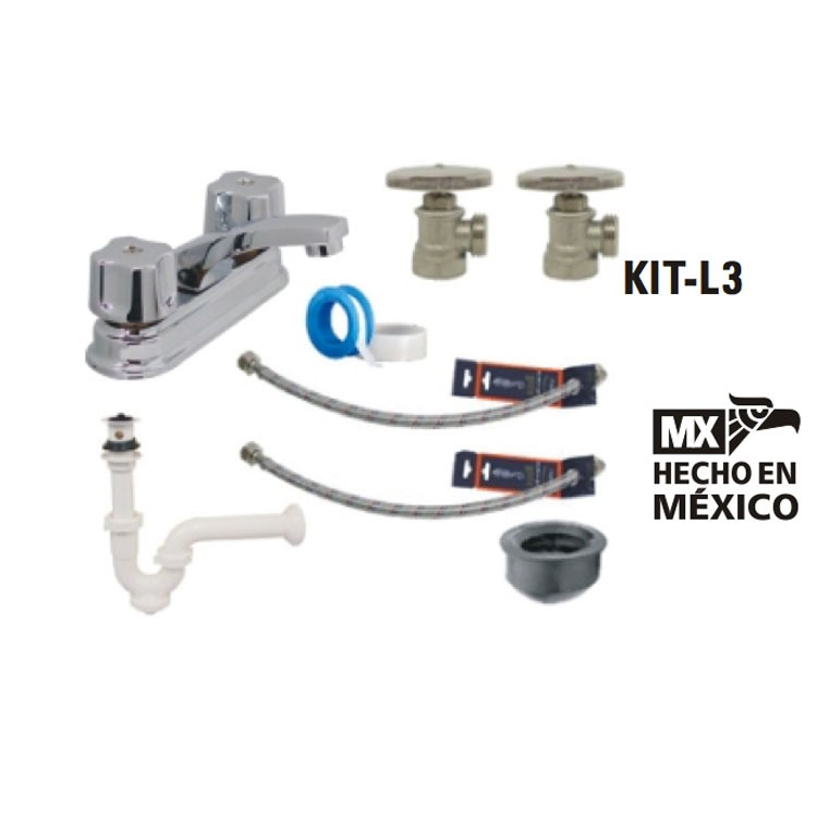 Kit Griferia Para Baño:Kit para baño Rugo – KIT-L3 – Kit para Baños – Baños