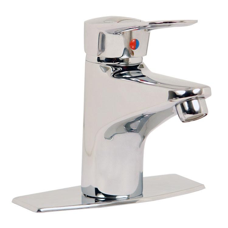 Llave monomando para lavabo con desag e autom tico 20 mc for Llaves mezcladoras para lavabo urrea