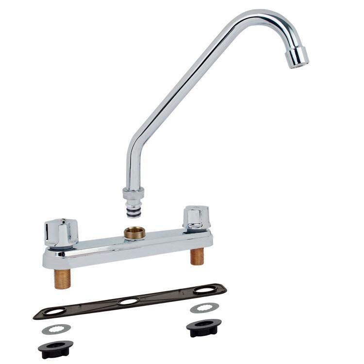 mezcladora para fregadero al piso con cubierta y manerales 11001