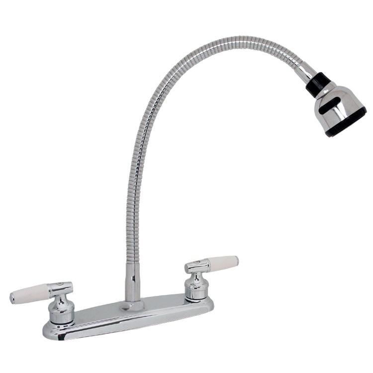 Mezcladora para fregadero de pico flexible y cartucho for Llaves para fregadero
