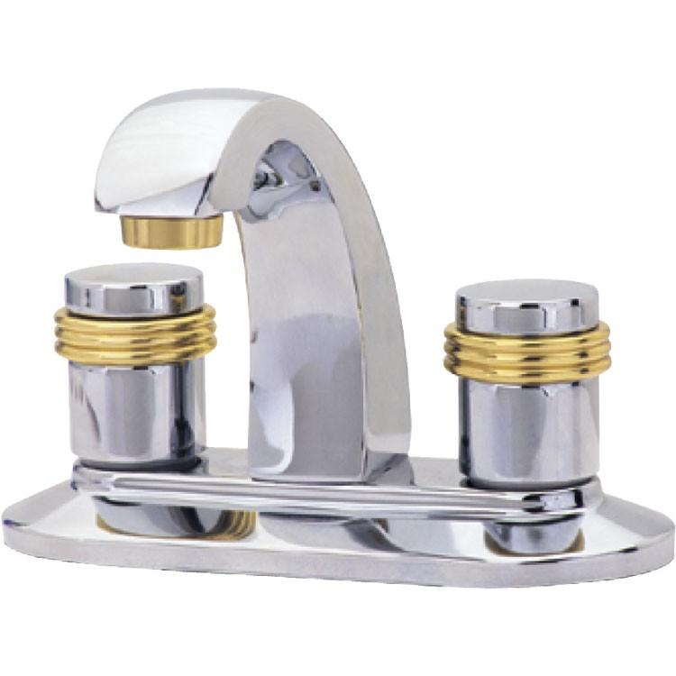 Mezcladora roma para lavabo de 4 con cartucho cer mico for Llave mezcladora para lavabo precio