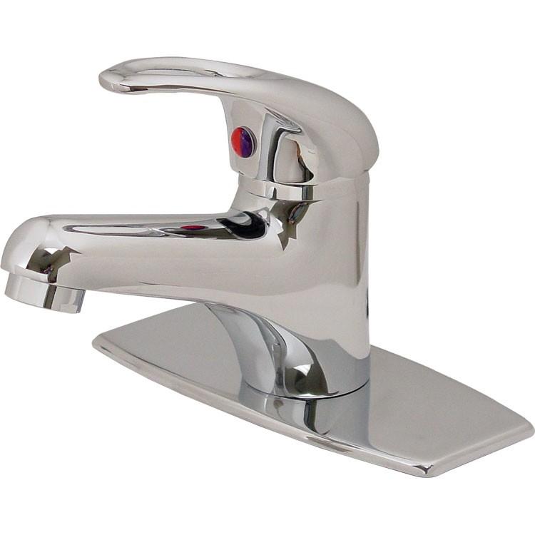 Monomando para lavabo con cubierta de lat n cromo 24 mc for Accesorios para llaves de agua