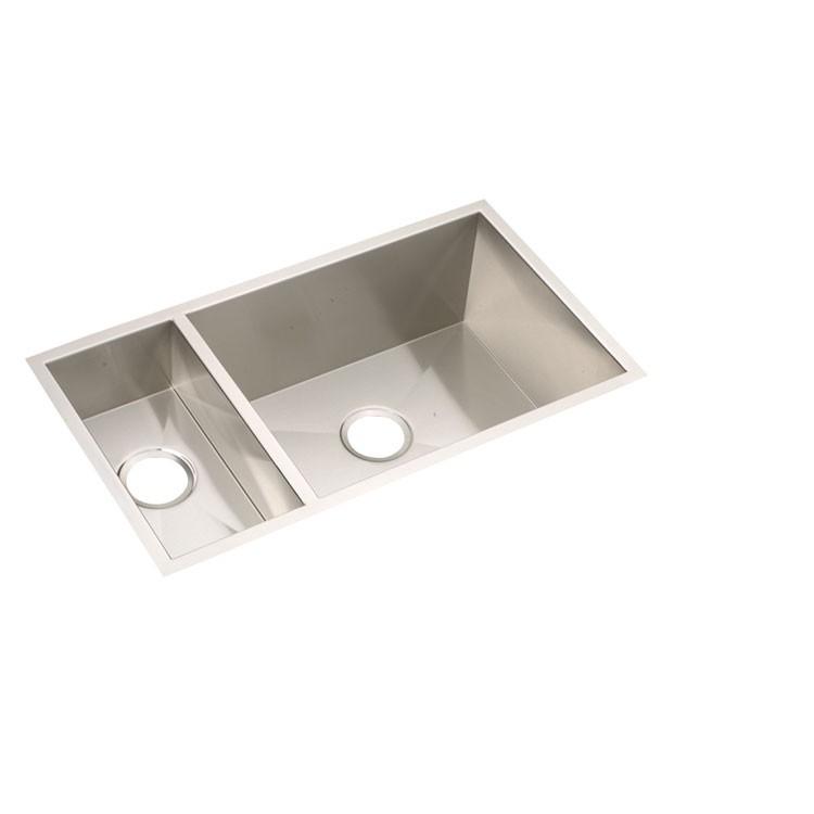 Baño De Tina Tecnica:Tarja de doble tina minimalista de submontar Avado calibre 16