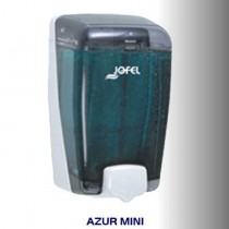 Dispensador de jabón rellenable color transparente, con base y pulsador gris, capacidad 400 ml - AC 85000