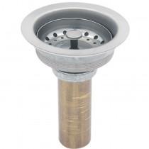 Contracanasta derlin y acero inoxidable para fregadero con tubo de latón