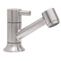 Llave individual para lavamanos o cocina, en material Acero Inoxidable. * Presión mínima requerida 0.8 kgf/cm2