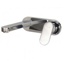 Mezcladora monomando para lavabo a la pared, línea ZAFIRO, en acabado CROMO (Z130) o SATIN (Z130S), segun lo solicite el cliente. Ensamble incluido.