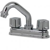 """Mezcladora para lavabo de 4"""" con cubierta de latón y cierre compresión, maneral acuario o maneral acrílico buscar en manerales."""