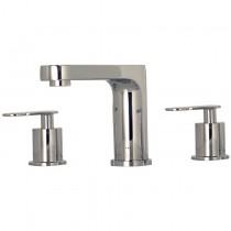 """Mezcladora de manerales con taladros separados para lavabo al piso de 8"""" a 12"""", con desagüe automático, línea ZAFIRO, en acabado CROMO (Z120) o SATIN (Z120S), segun especifique el cliente."""